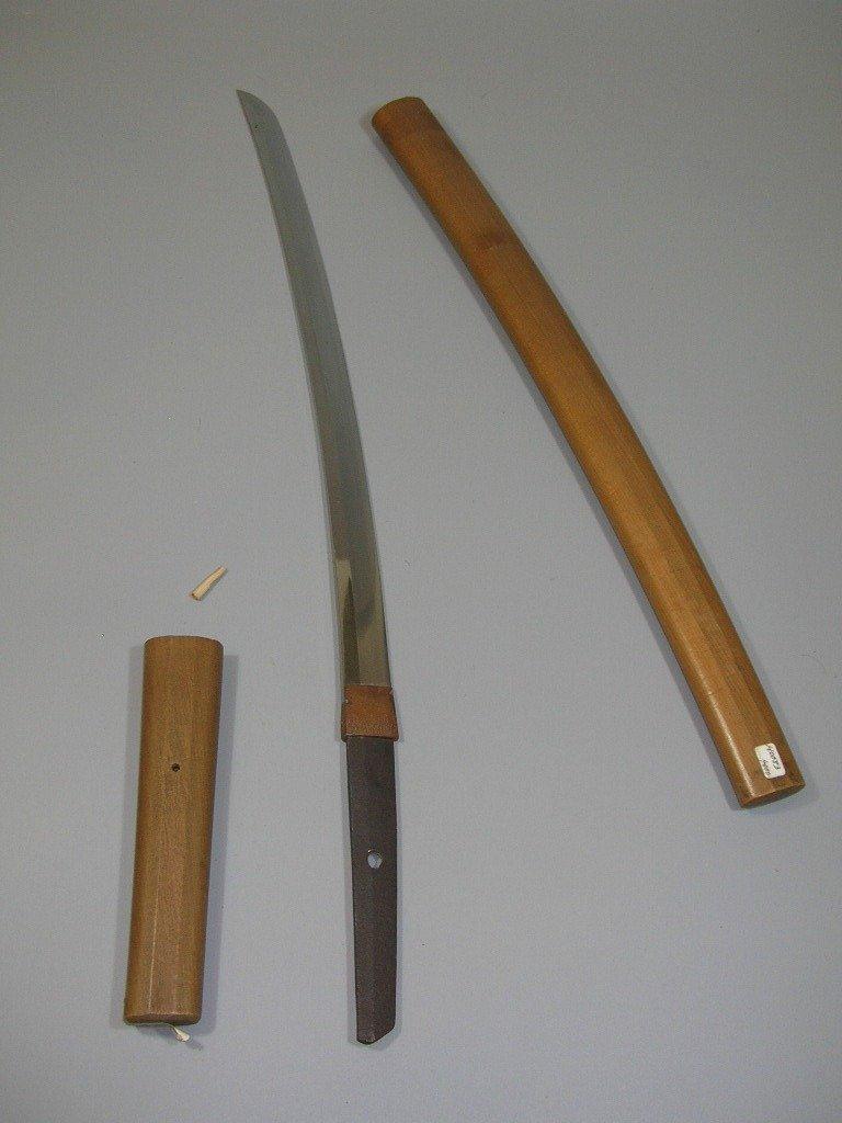 Rare Samurai Sword Wakizashi Signed Fujiwara Masahiro - 6