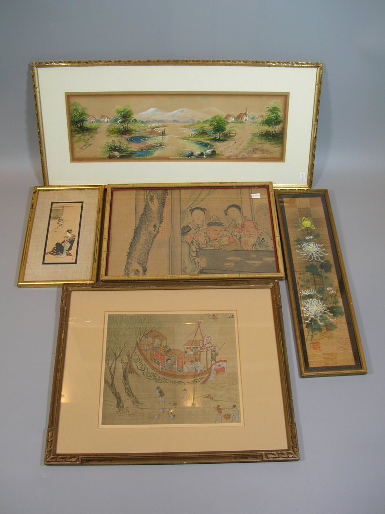 Group of Old Chinese and Japanese Paintings