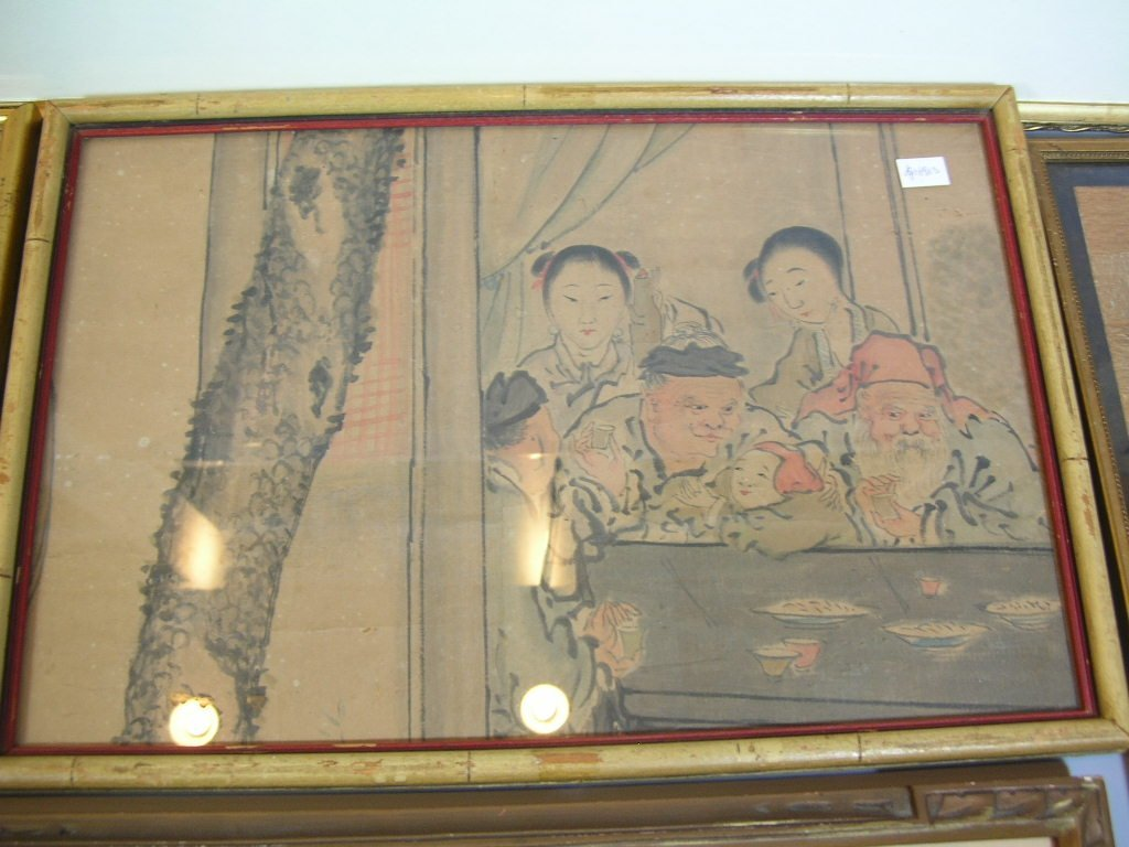 Group of Old Chinese and Japanese Paintings - 7