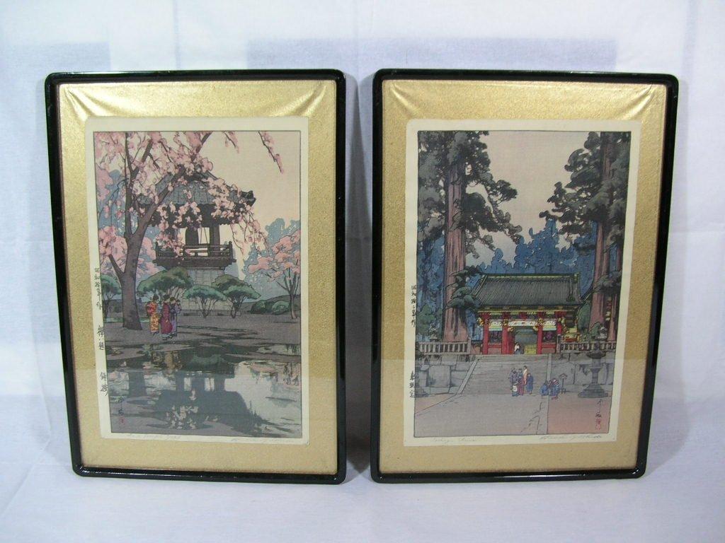 Pair of Unusual Japanese Woodblock Prints Hiroshi