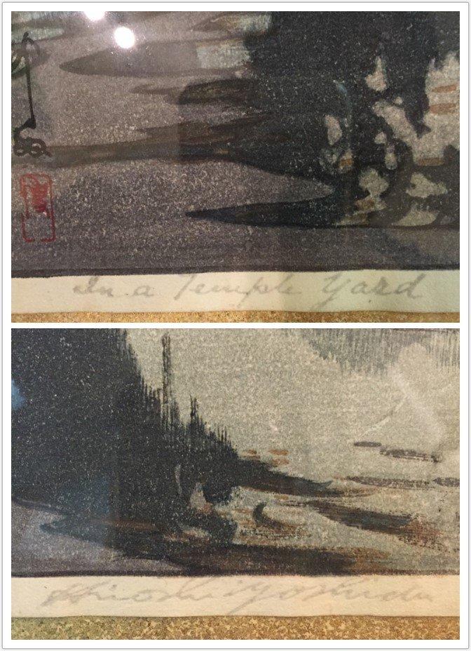 Pair of Unusual Japanese Woodblock Prints Hiroshi - 8