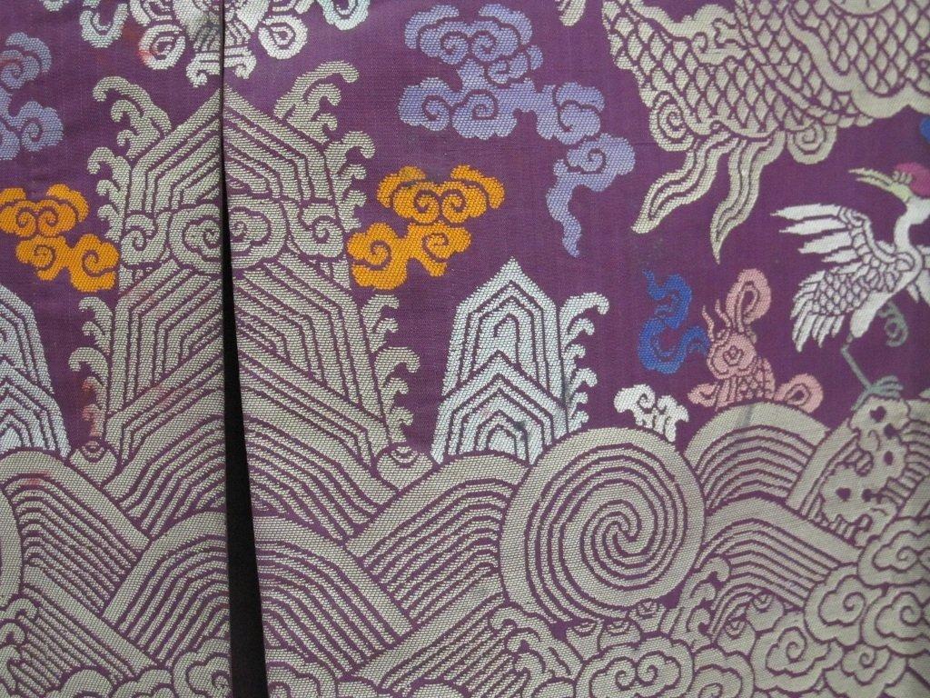 Imperial Purple Brocade Dragon Robe Jifu Late Qing Dy - 4