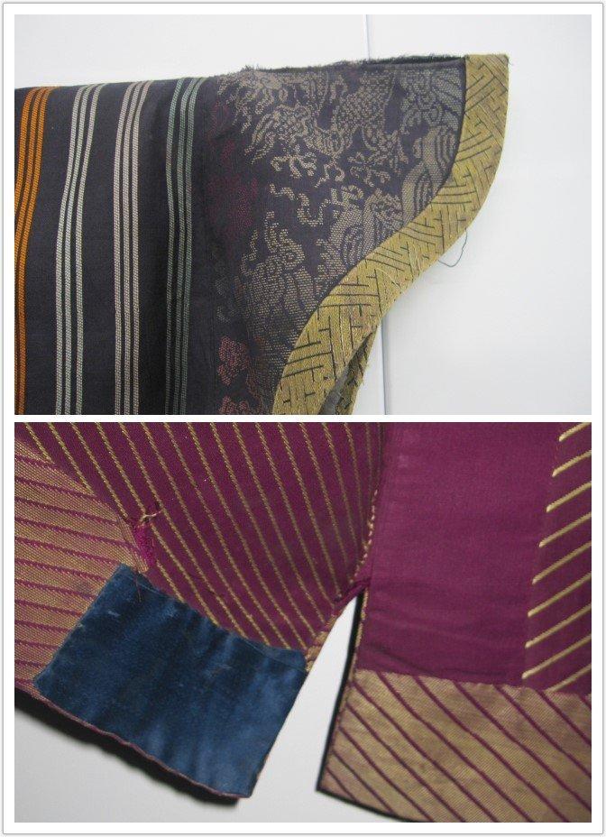 Imperial Purple Brocade Dragon Robe Jifu Late Qing Dy - 9