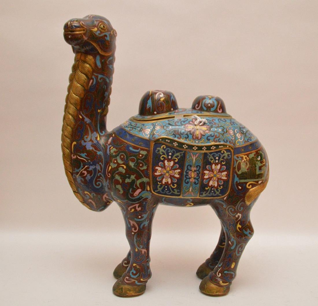 Antique Cloisonné Enamel Camel Censor.  Condition: good