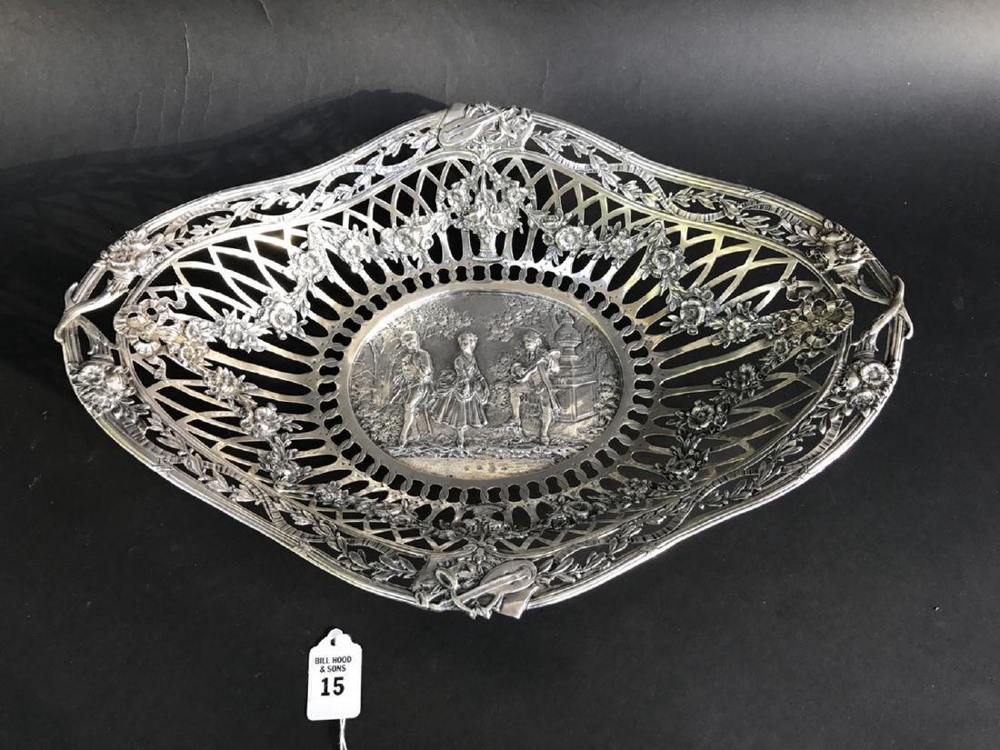 Continental Silver 800 Bowl with reticulated rim and