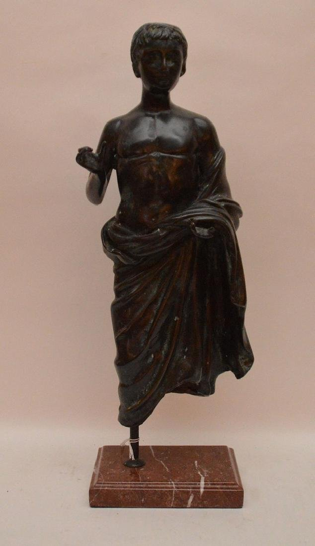 Early Continental Bronze Figure.  Condition: minor loss