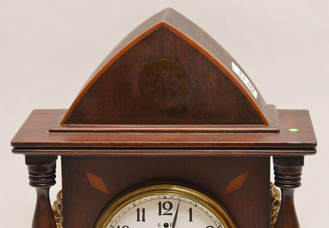 Inlaid Mahogany Shelf Clock with time and strike - 2