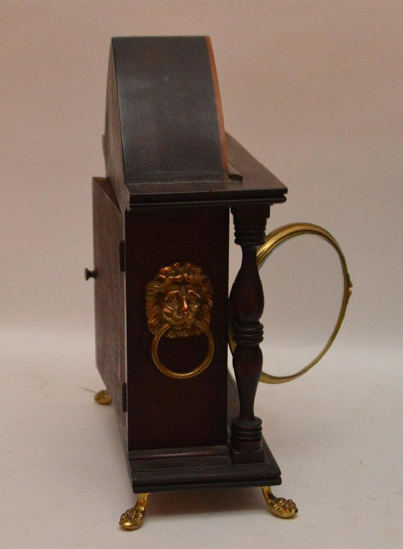 Inlaid Mahogany Shelf Clock with time and strike - 3