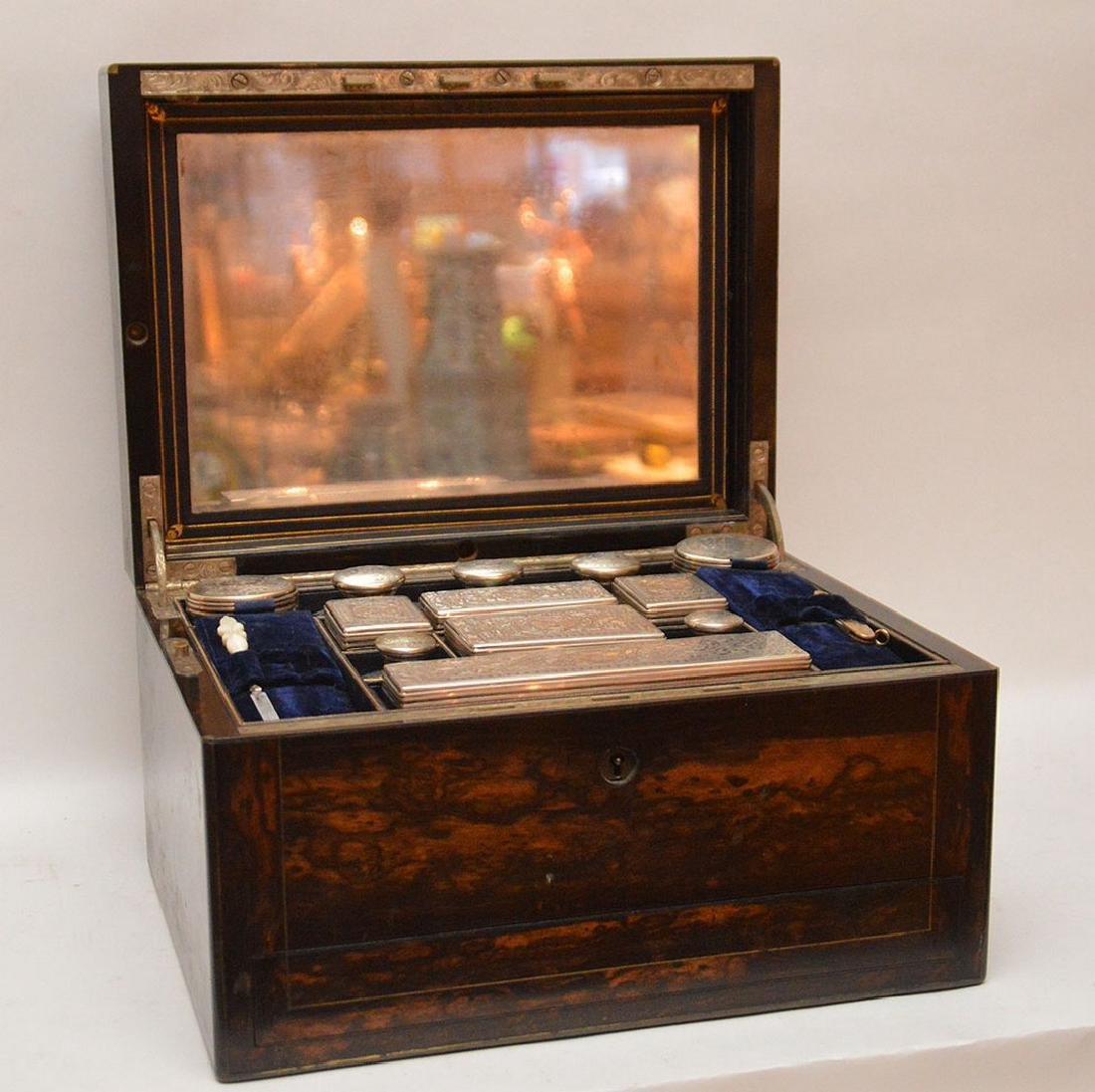 Antique Coramondel Wood Necessities Box.  The Boxes and - 2