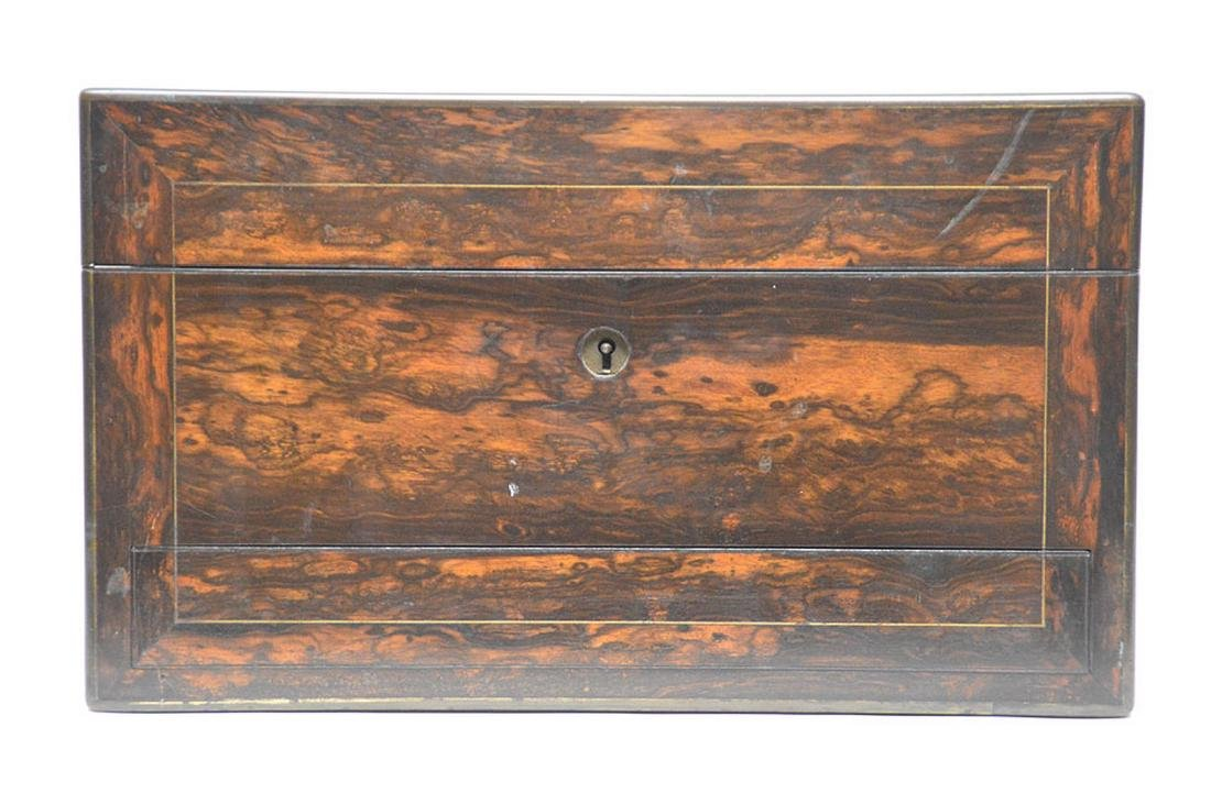 Antique Coramondel Wood Necessities Box.  The Boxes and - 7