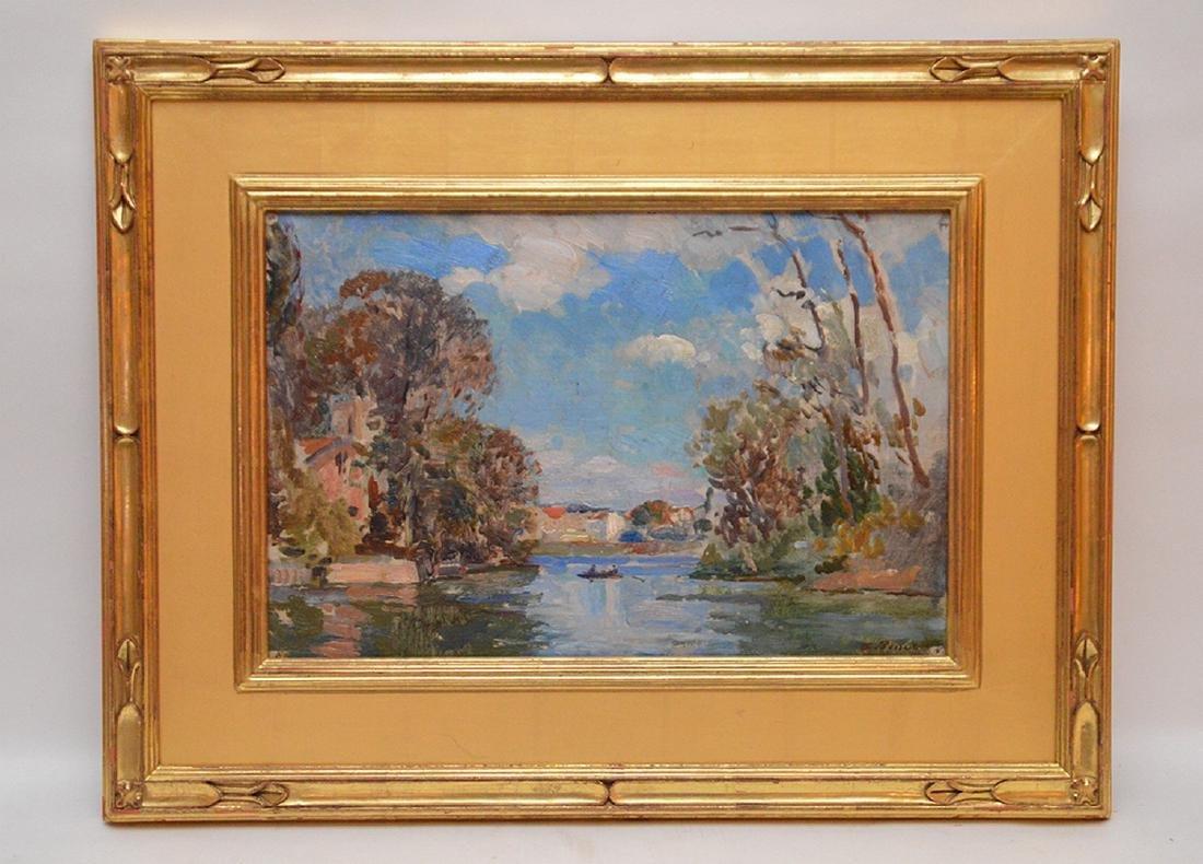 Albert Pinot (BELGIAN, 1875-1962) oil on panel,