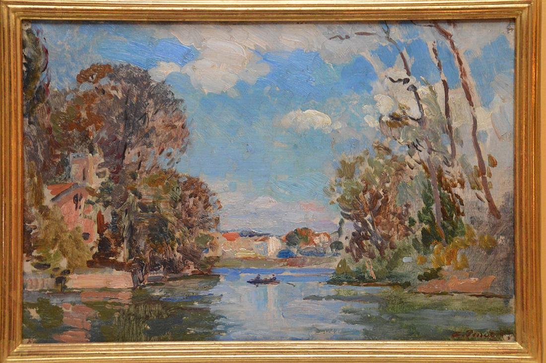 Albert Pinot (BELGIAN, 1875-1962) oil on panel, - 2
