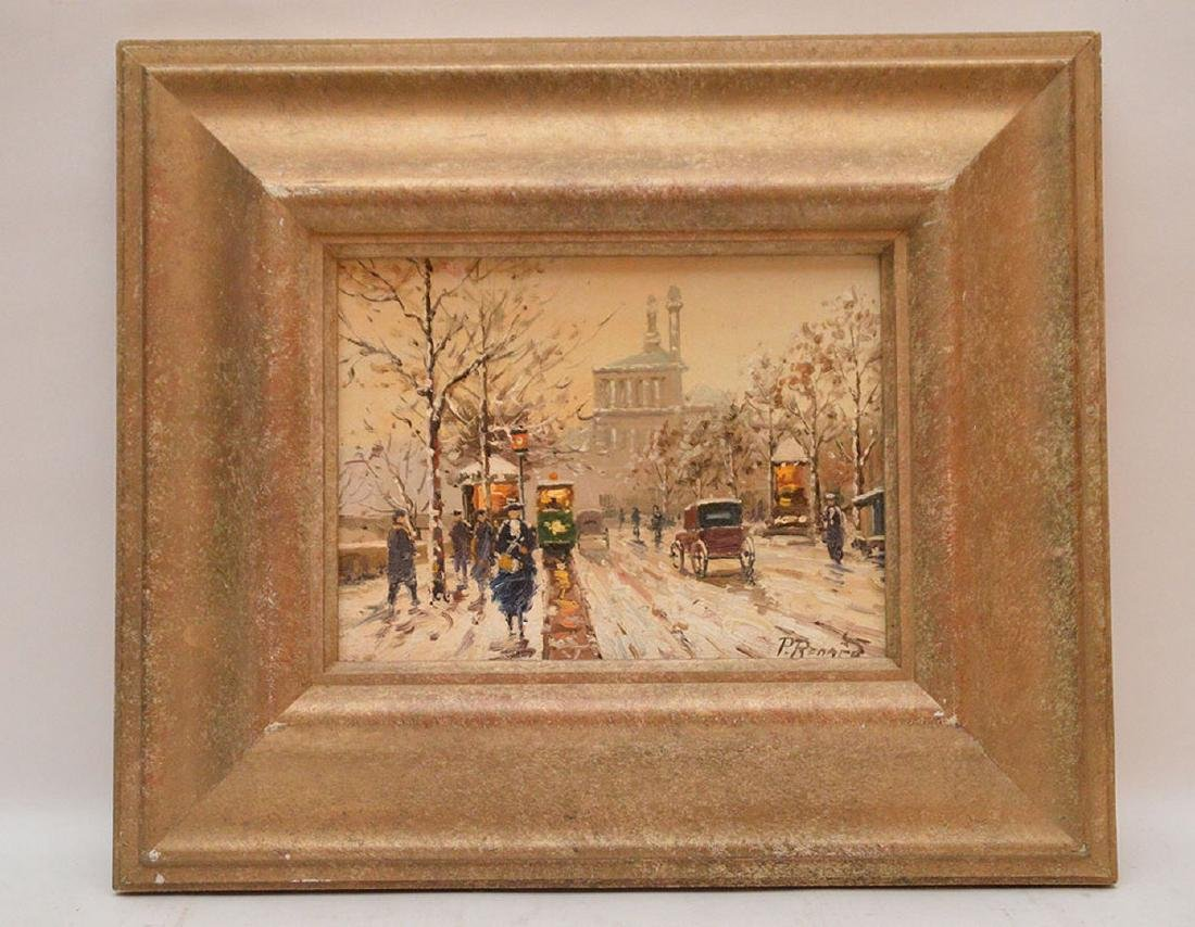 Paul Renard (French, 1941-1997) Paris Street Scene,