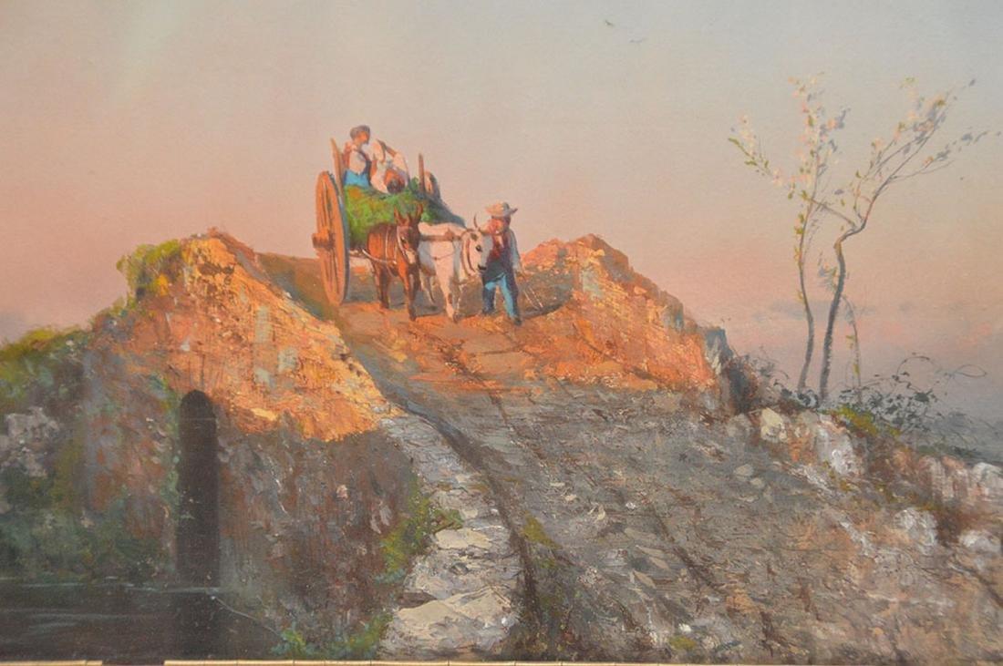 19th Century Italian Gouache of Peasants, 10 x 15 - 2