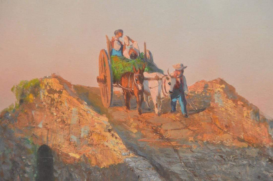 19th Century Italian Gouache of Peasants, 10 x 15 - 3