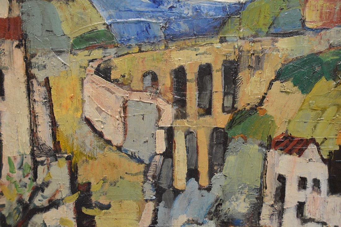Gonzalo Sebastian de Erice oil on canvas, town scene, - 3