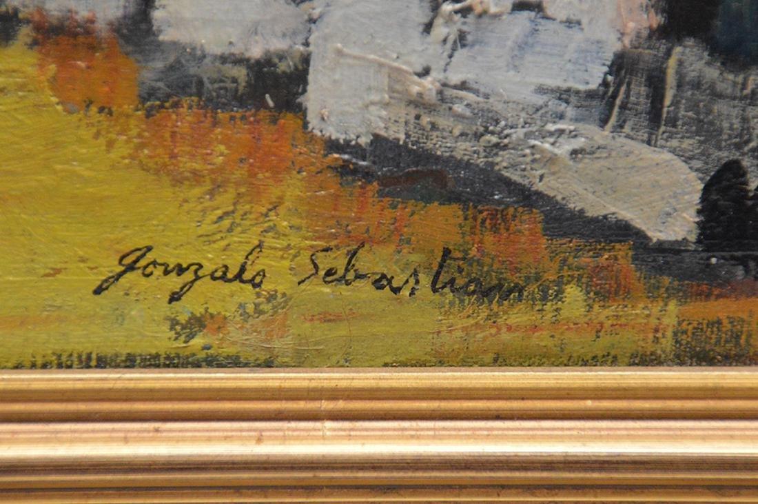 Gonzalo Sebastian de Erice oil on canvas, town scene, - 4