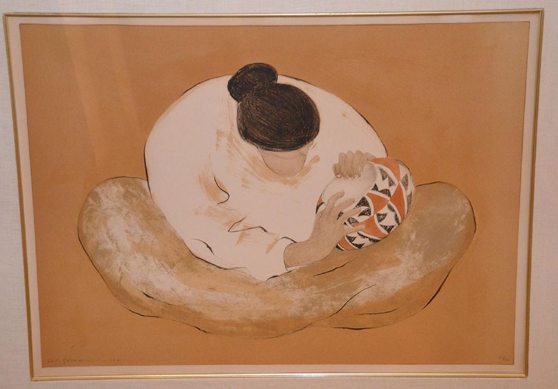 R. C. Gorman (Am, 1932-2005). Original Color Lithograph