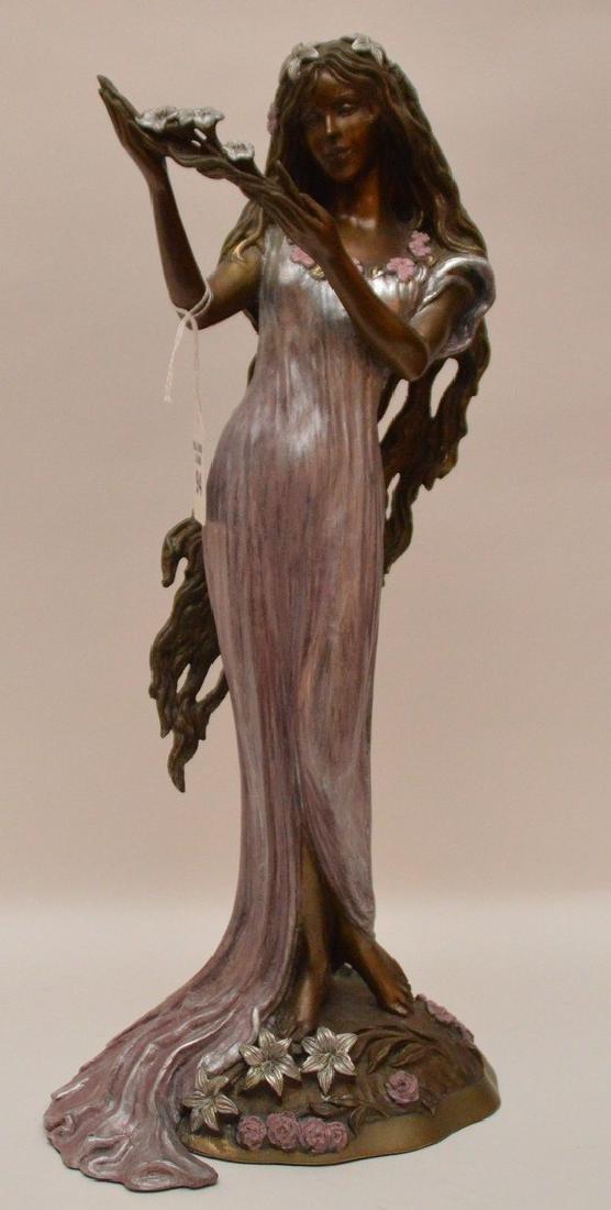 Ira B. Reines polychrome bronze sculpture depicting a