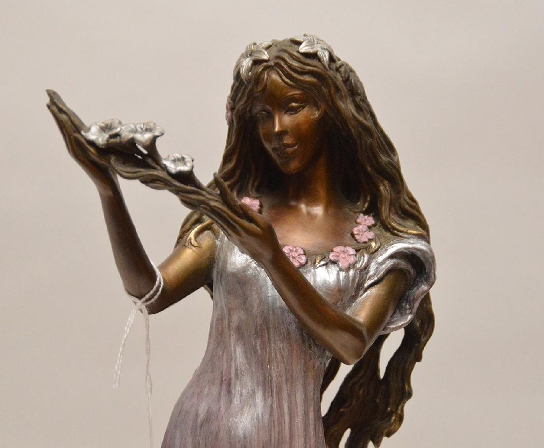 Ira B. Reines polychrome bronze sculpture depicting a - 2