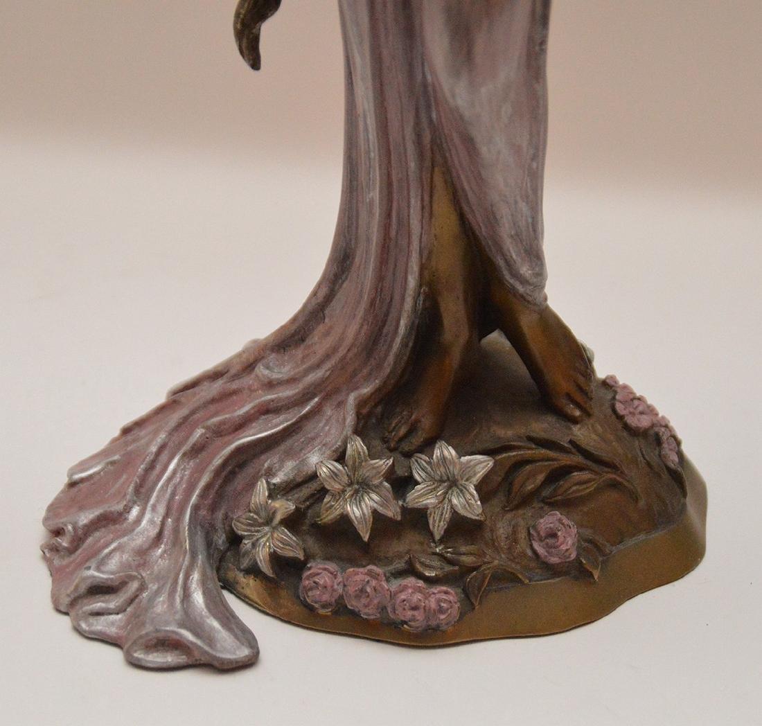 Ira B. Reines polychrome bronze sculpture depicting a - 3