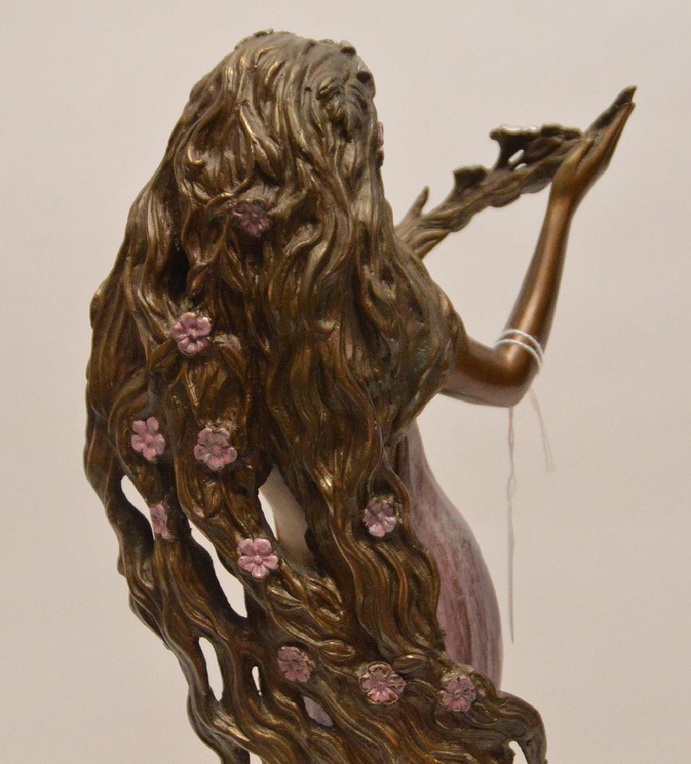 Ira B. Reines polychrome bronze sculpture depicting a - 5