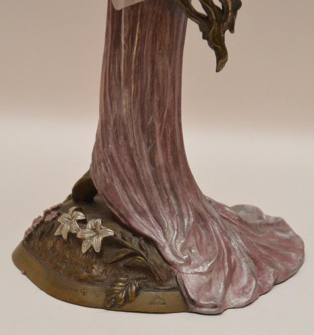 Ira B. Reines polychrome bronze sculpture depicting a - 6