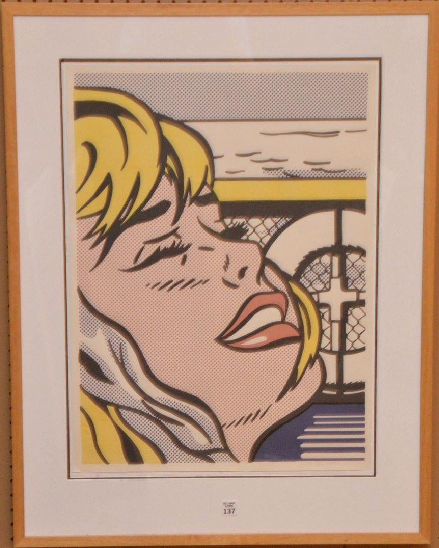 Roy Lichtenstein Shipboard Girl colored lithographRoy