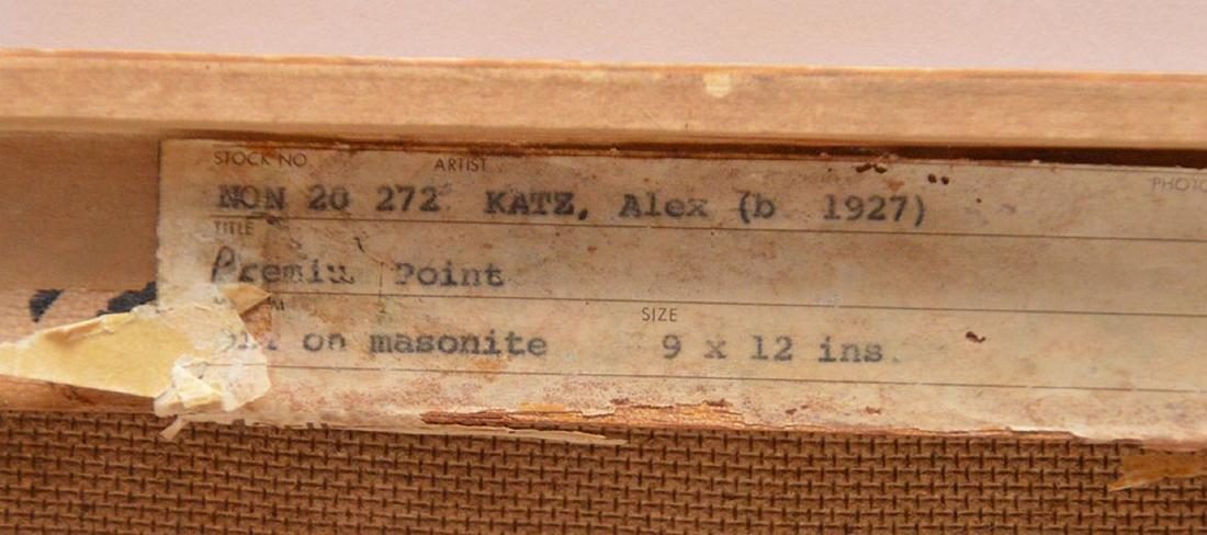 "Alex Katz b. 1927, 1976, 9"" x 12"" oil landscape - 4"