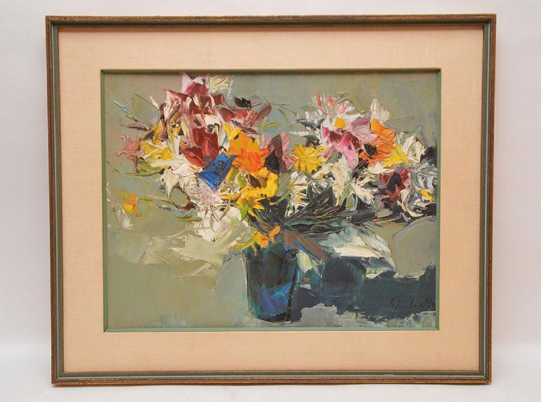 Nicola Simbari (Italian, 1927-2012) oil on canvas,