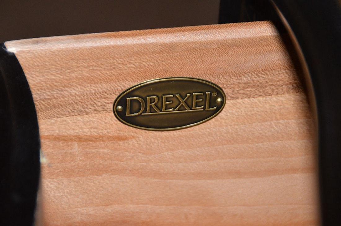 "Black 3 drawer serpentine chest Asian motif, 32""h x 40 - 5"