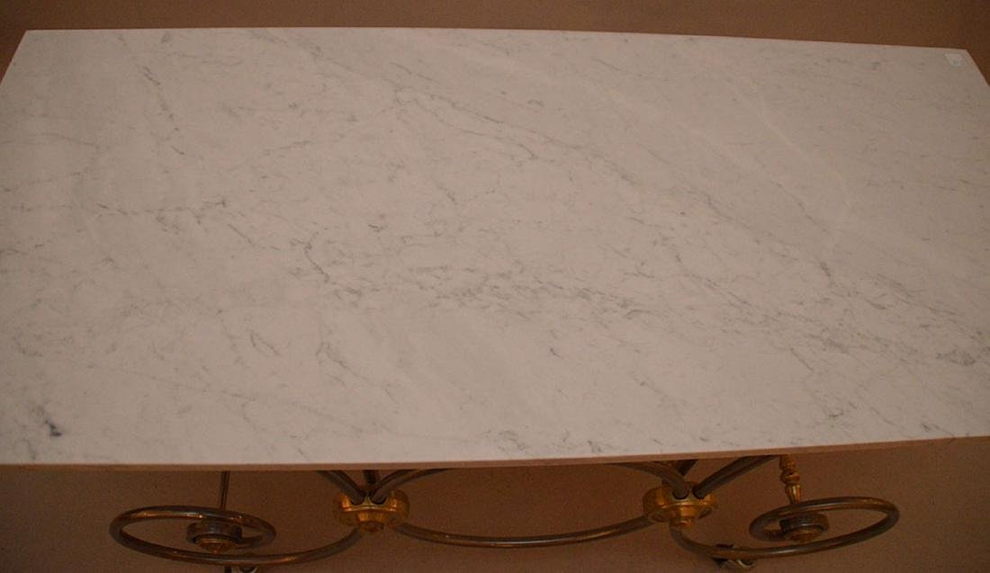 French pastry moving table with Carrera marble top, 30 - 4