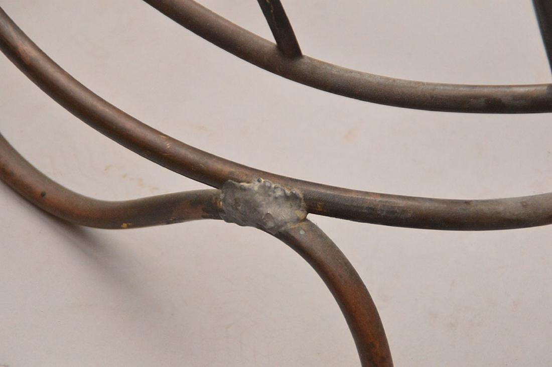 "Brass swan form magazine rack, 15 1/2""h x 24""L - 4"