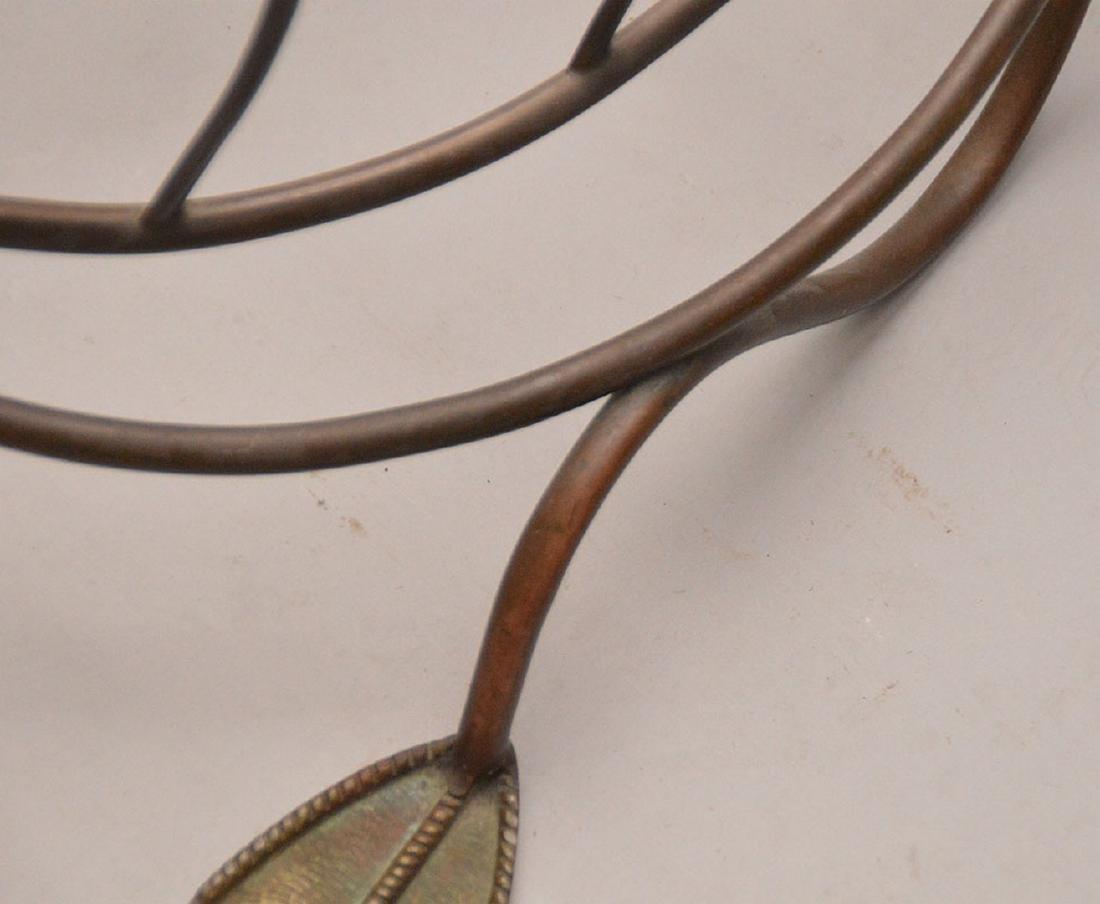 "Brass swan form magazine rack, 15 1/2""h x 24""L - 5"