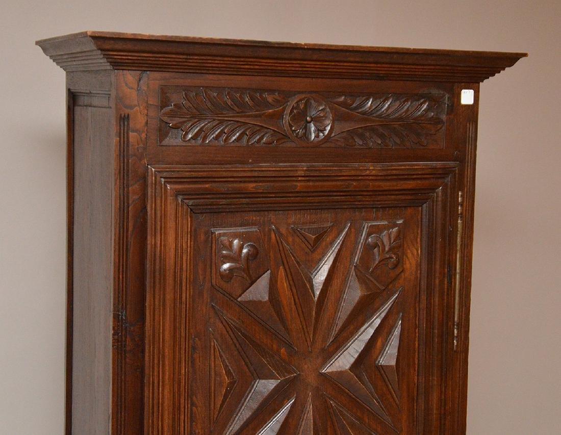 19th c. Continental carved single door cupboard, 75 - 2