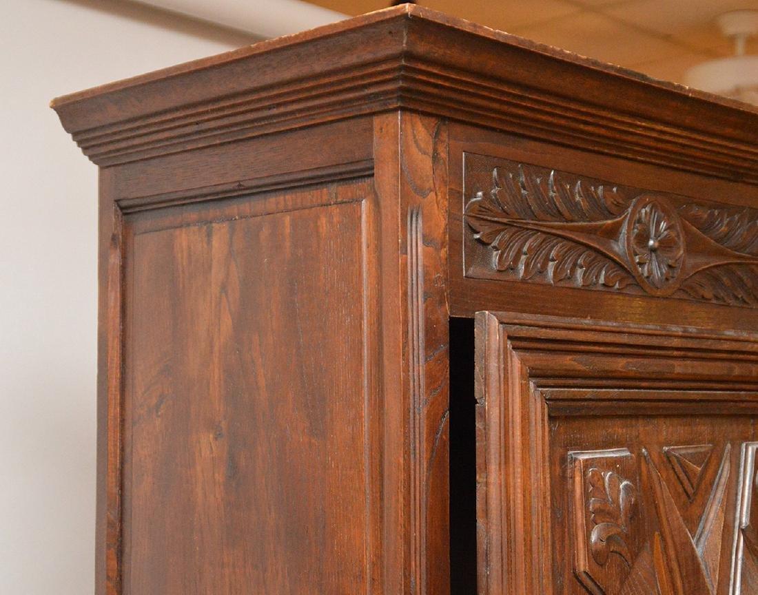 19th c. Continental carved single door cupboard, 75 - 3