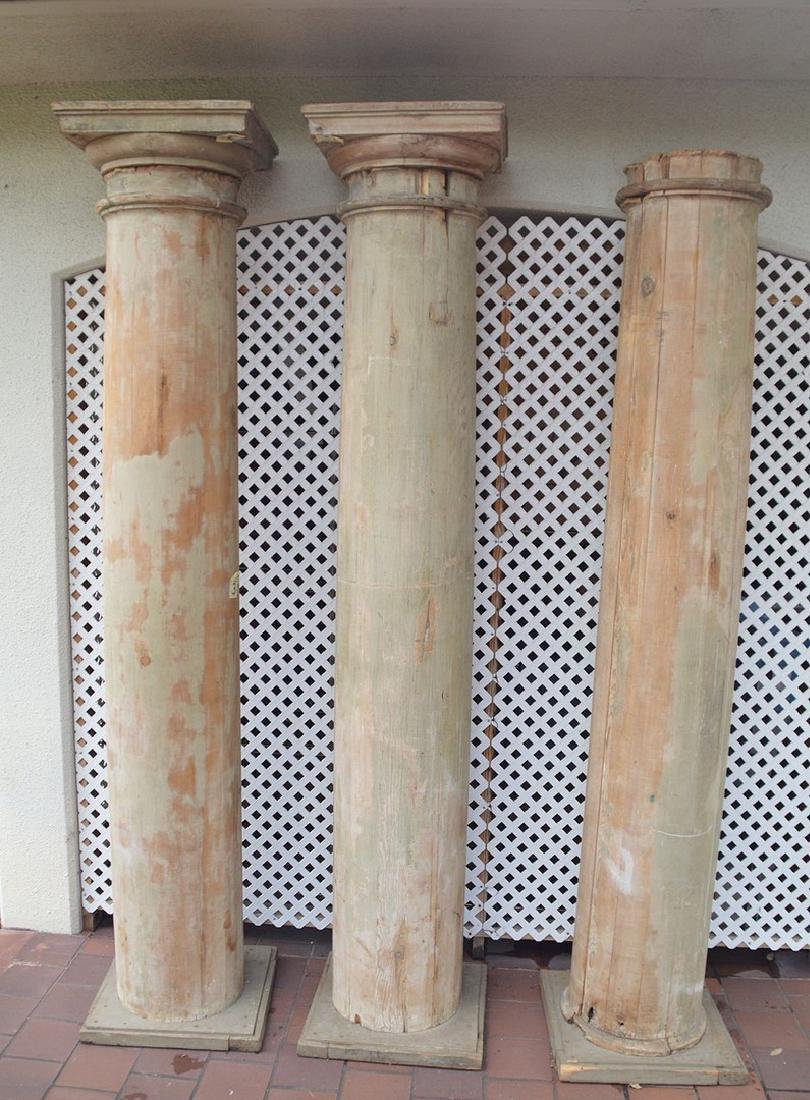 3 architectural wood columns