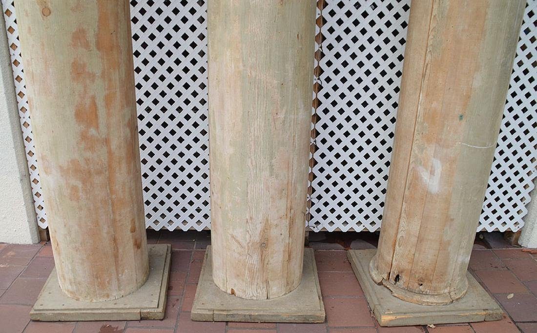 3 architectural wood columns - 2