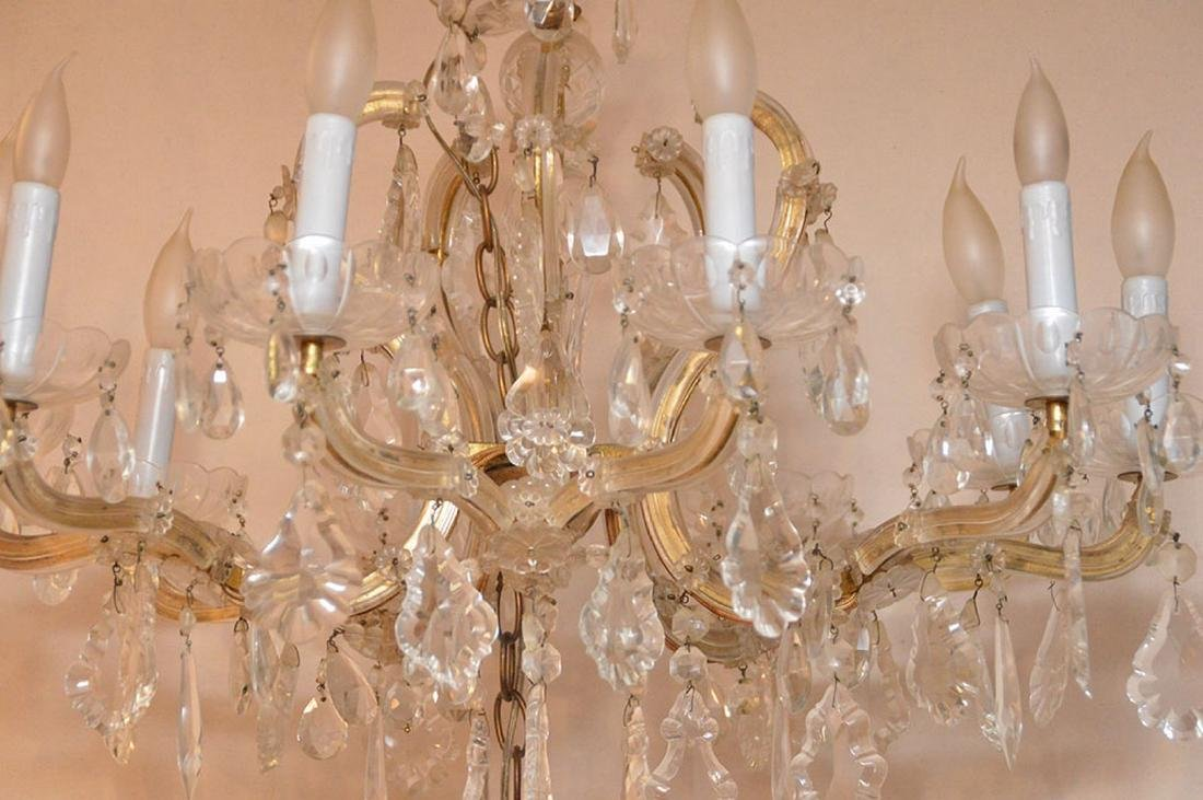 "10 light crystal chandelier, 20""h x 24""w - 3"