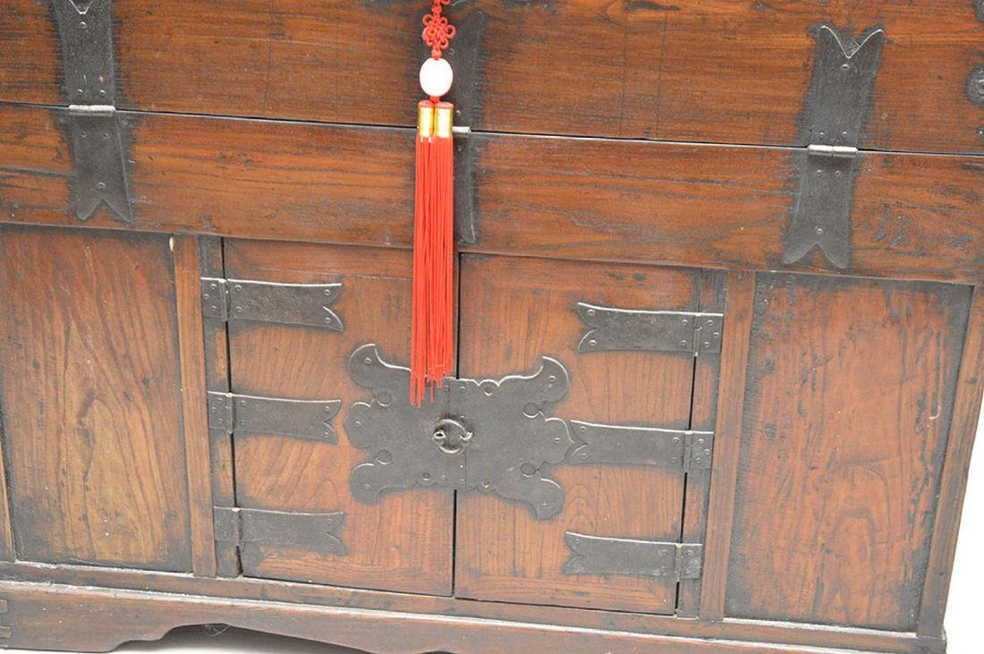 "Chinese cabinet, iron hardware, 33""h x 37""w x 18""d - 2"