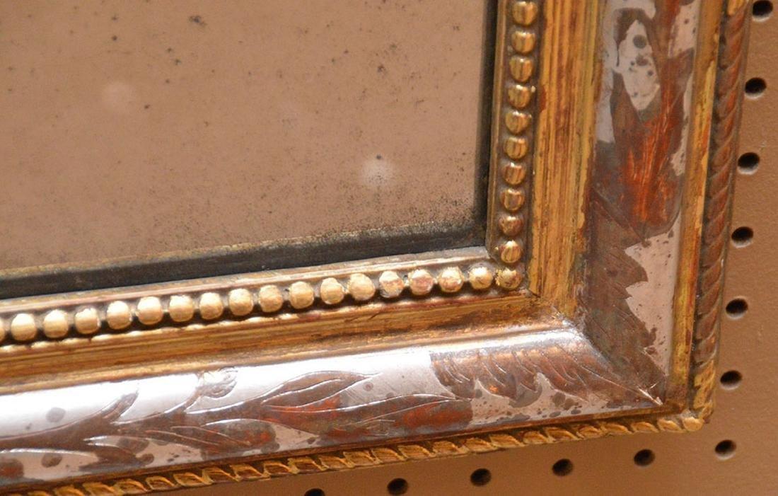 "19th c. arched beaded gilt framed mirror, 27""h x 21""w - 3"