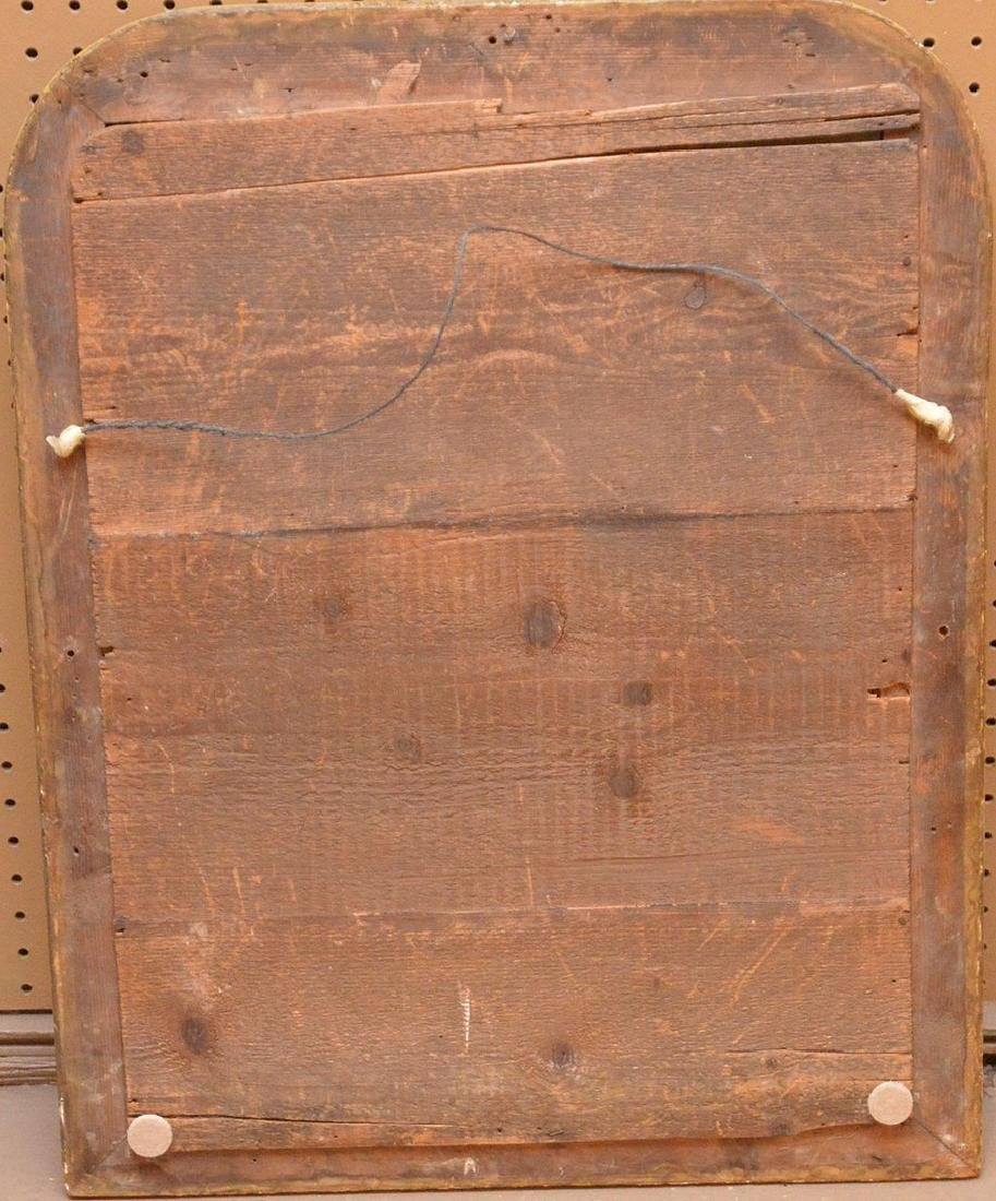 "19th c. arched beaded gilt framed mirror, 27""h x 21""w - 4"