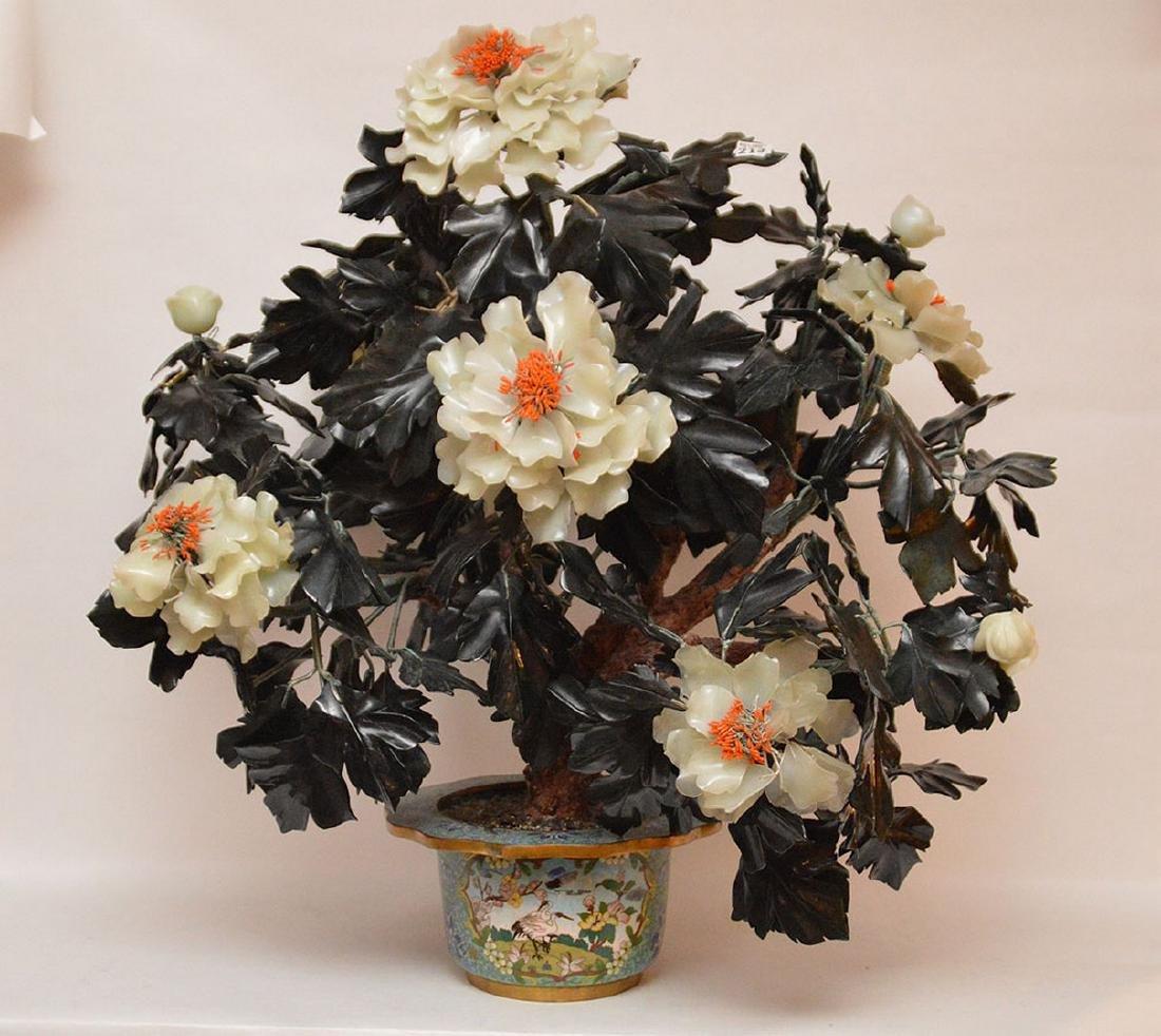 Jade floral tree