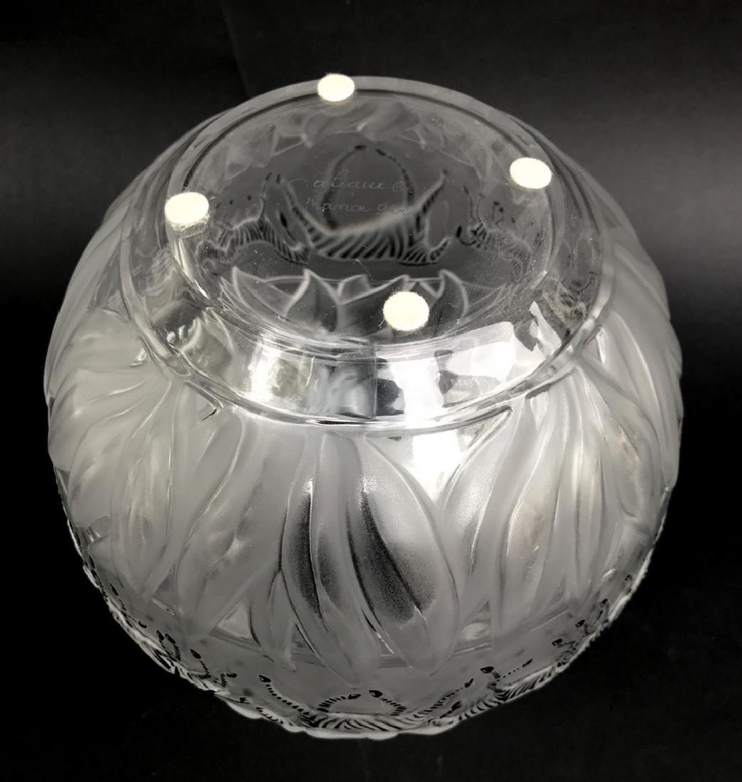 """Lalique crystal Tanzania (Zebra) vase, 8 1/8""""h - 3"""