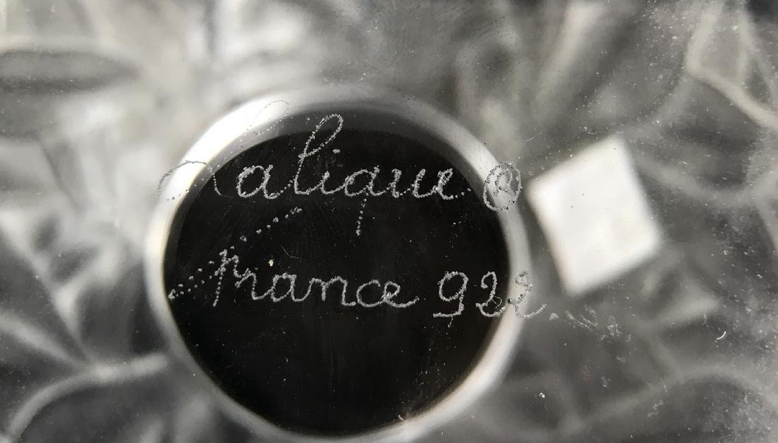 """Lalique crystal Tanzania (Zebra) vase, 8 1/8""""h - 4"""