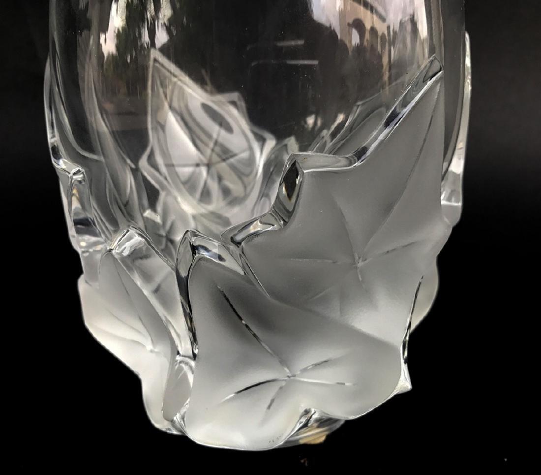 """Lalique """"Hedera"""" Ivy Leaf Vase, 7""""h x 5""""w - 2"""