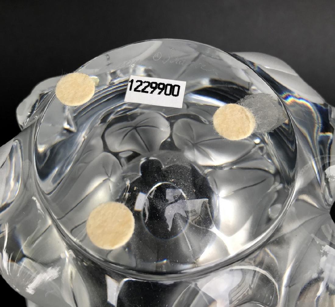 """Lalique """"Hedera"""" Ivy Leaf Vase, 7""""h x 5""""w - 3"""