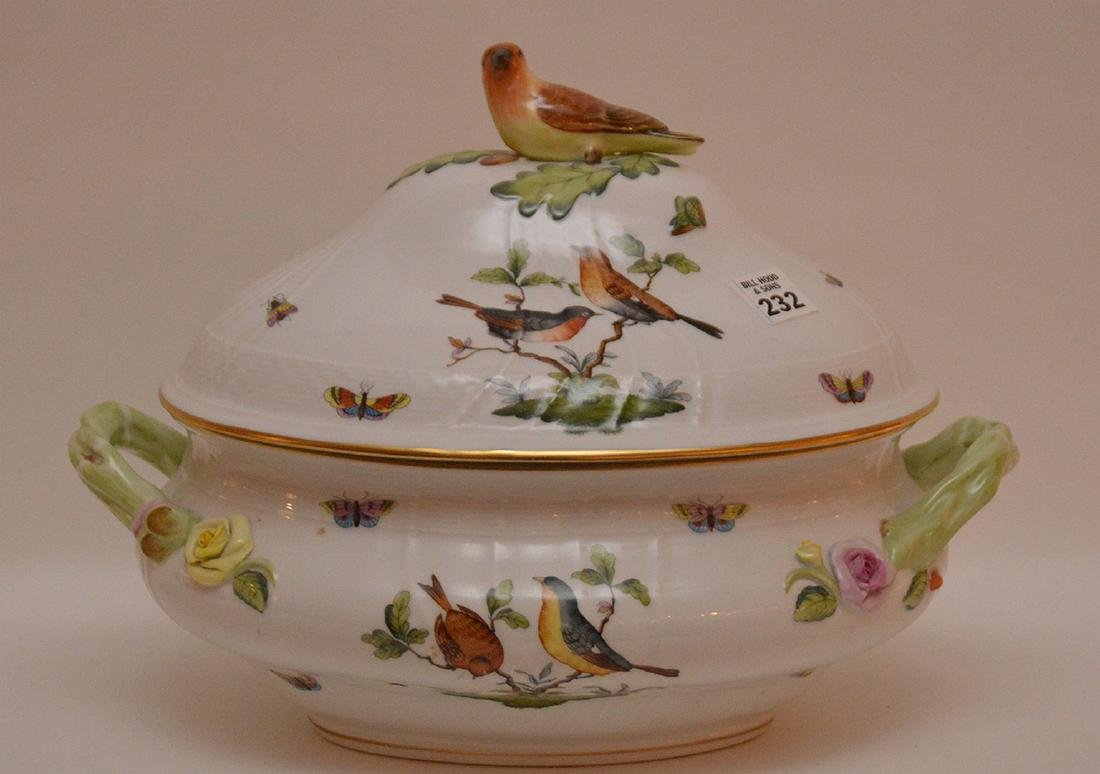 "Herend lidded soup tureen ""Rothschild"", birds,"