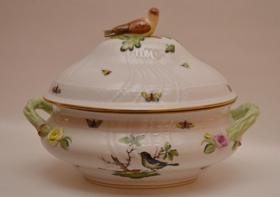 "Herend lidded soup tureen ""Rothschild"", birds, - 4"