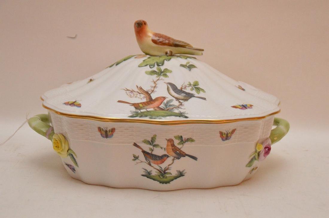 "Herend lidded soup tureen ""Rothschild"", birds,"